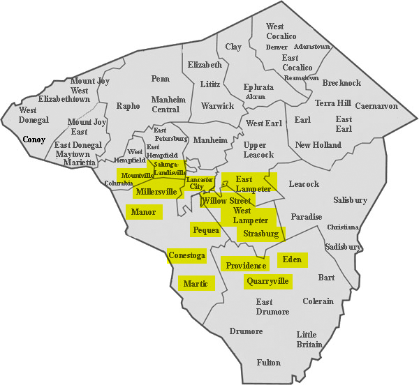 Service Area in Lancaster County, PA| BG Mellinger & Sons Inc. on skagit co map, chilton co map, hunterdon co map, fairfax co map, garfield co map, middlesex co map, henrico co map, maricopa co map, fayette co map, garrard co map, murray co map, lincoln co map, mobile co map, leavenworth co map, calaveras co map, walton co map, california co map, santa barbara co map, nevada co map, maryland co map,